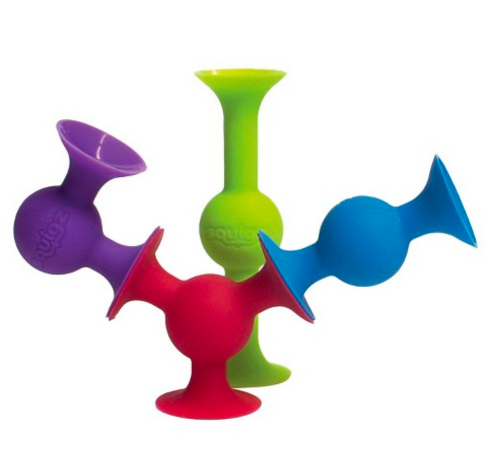 Fat Brain Toys - Squigz Toy - 24 Piece Set