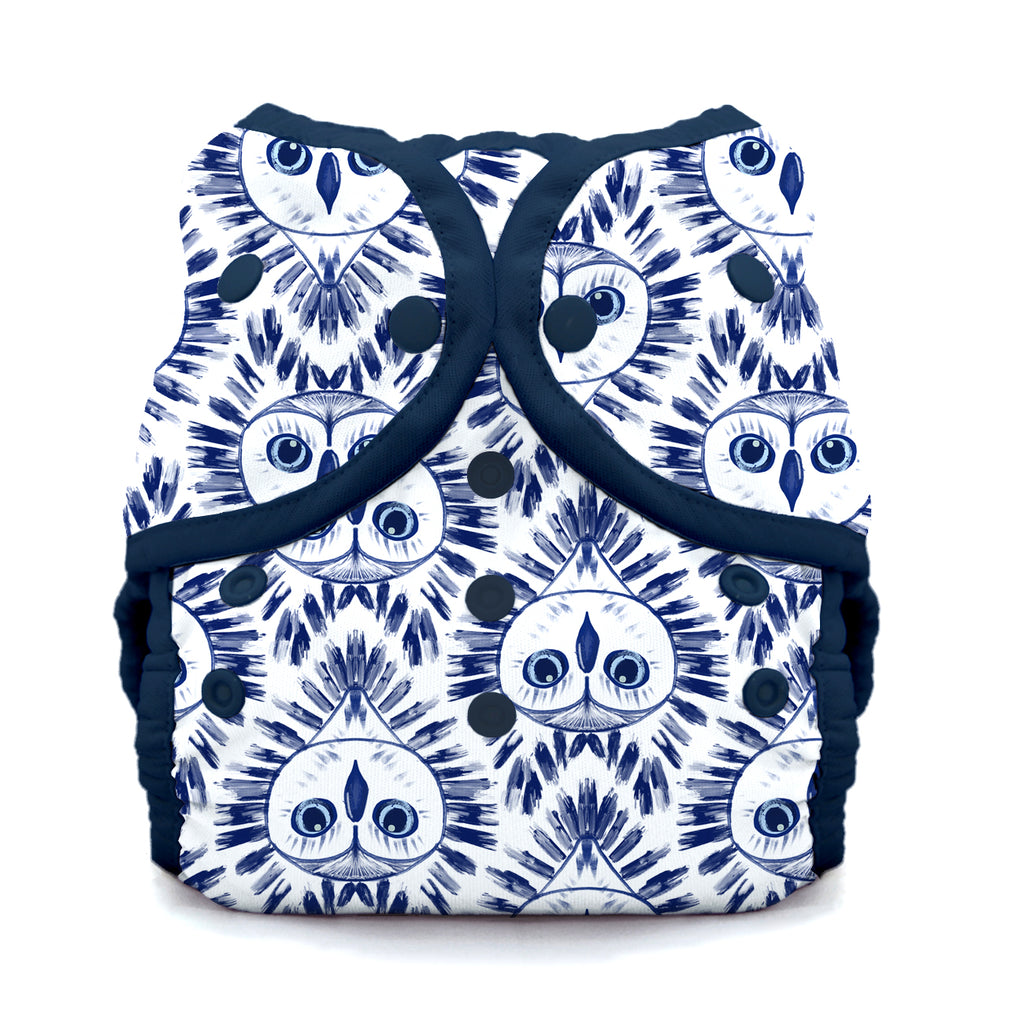 Thirsties - Duo Wrap (Cover) - All Sizes - Snap and Hook & Loop - Night Owl