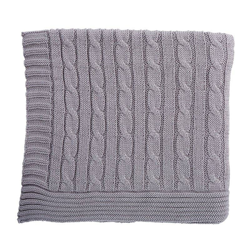 Stephan Baby by Creative Brands - Heirloom Gray Swtr Blanket