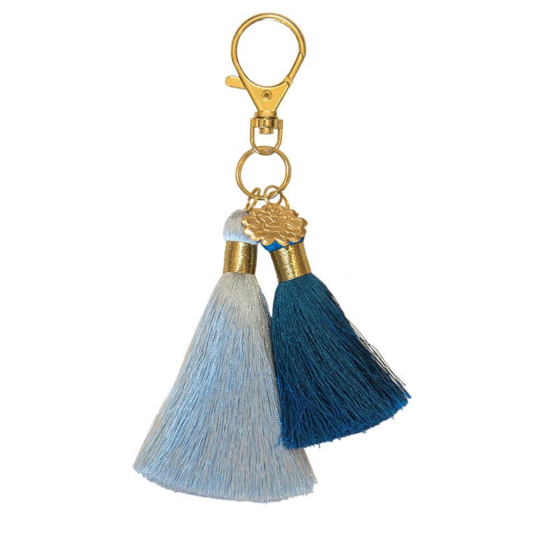 PAPAYA! - Twin Tassel Clip - Honey Blue Blue