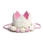 Glitter Flower Party Crown