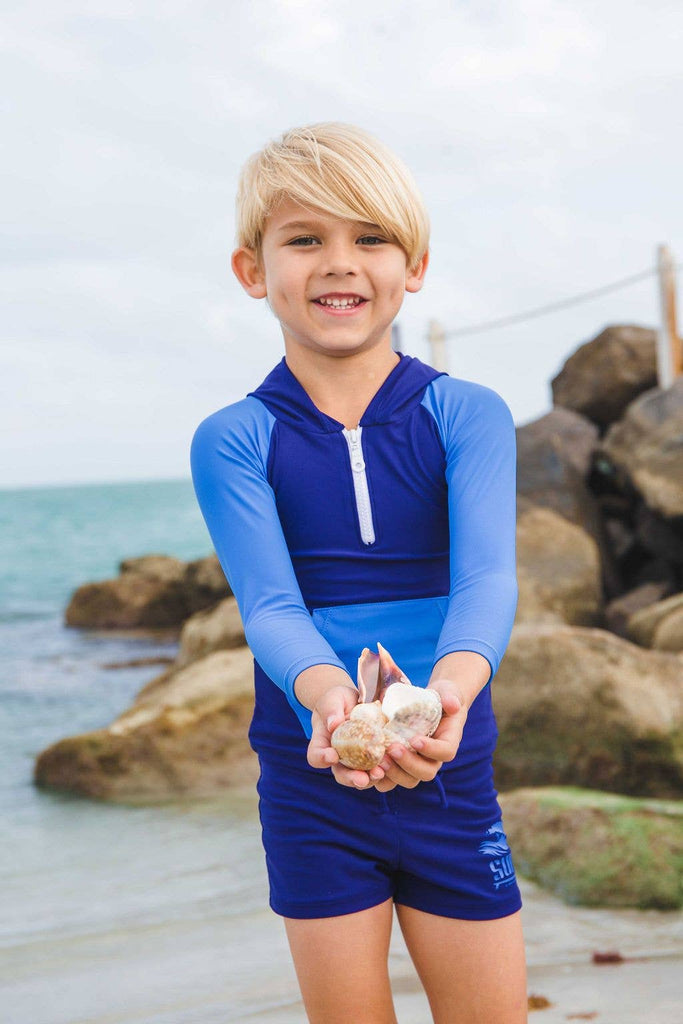 Blueberry Bay - Sandy Shores Hooded Rash Guard