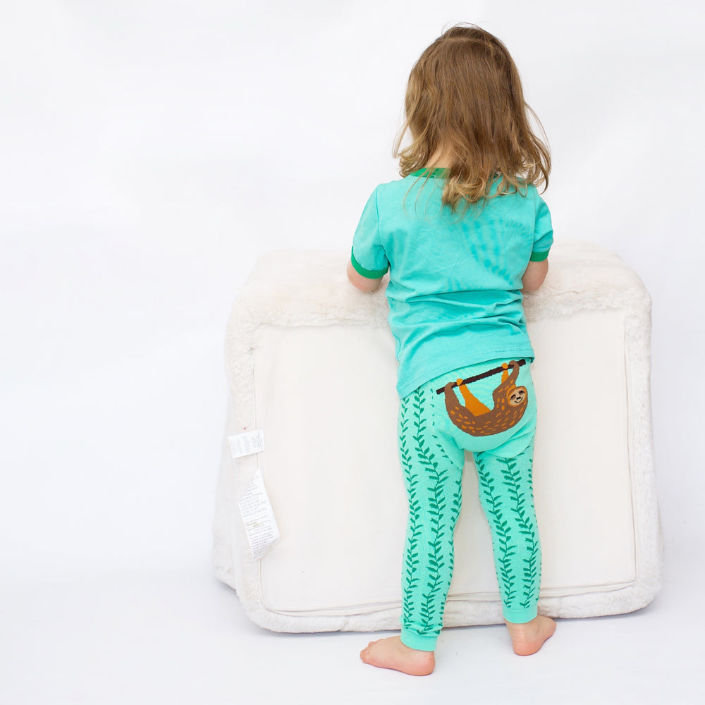 Doodle Pants - Happy Sloth Cotton Leggings