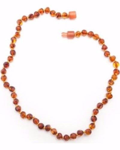 Healing Hazel Baltic Amber Necklace - Polished Cognac