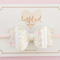 Bowtiful Soul Lilly Bow - Pearl & White