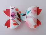 Coral Floral Mermaid Tail Bow