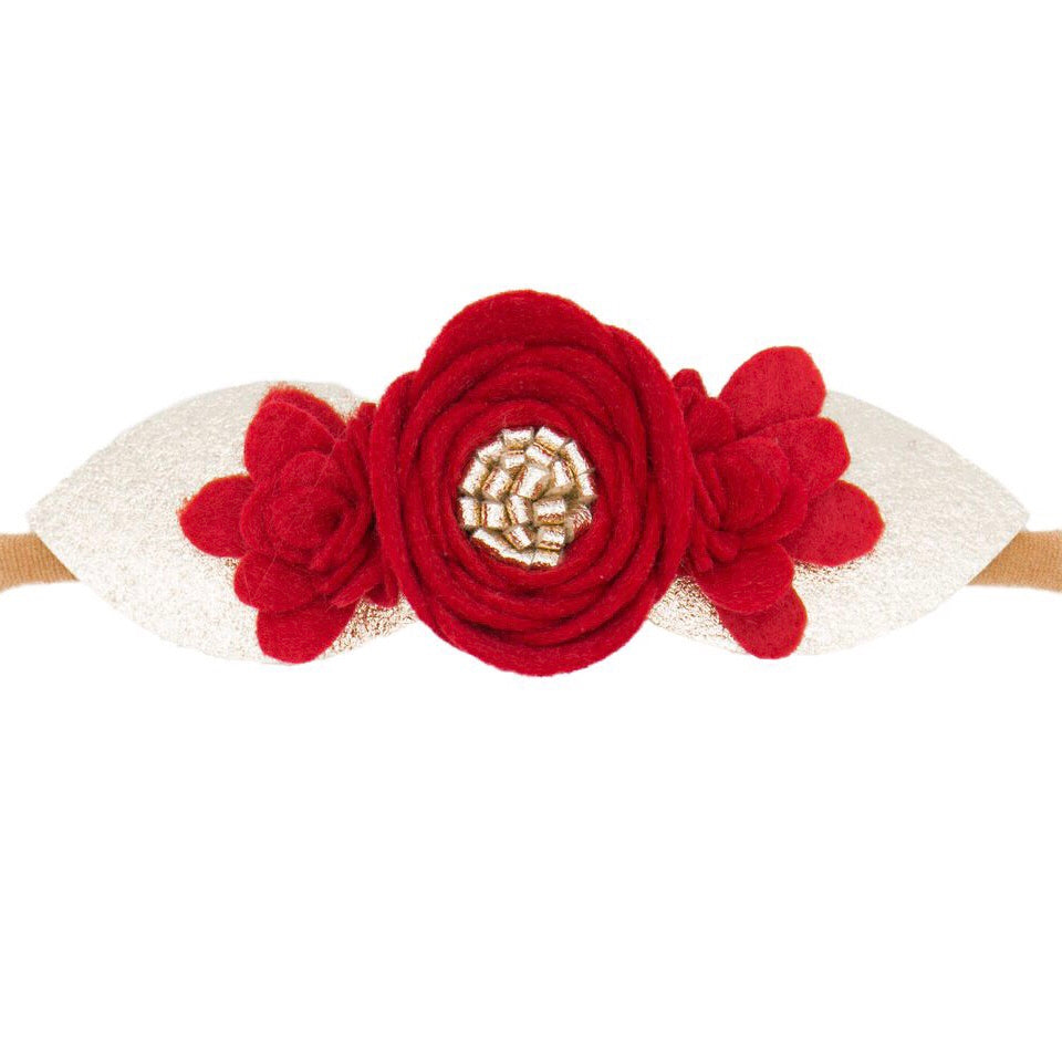 Holiday Flower Crown - Soft Nylon - Pre-Order Ships in 1 Week