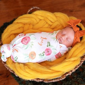 Small Swaddle - Personalized - Girls - ALL Styles- 3-6 Weeks Delivery