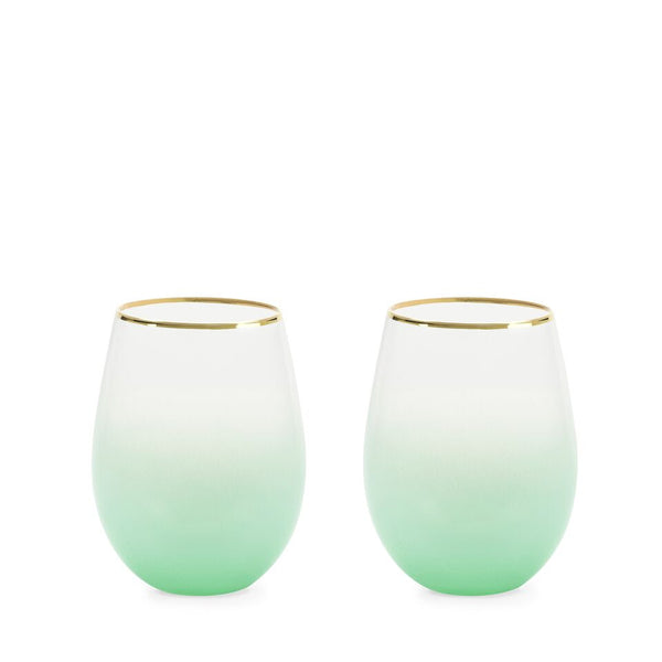 Stemless Wine and Cocktail Set - Bougainvillea Green