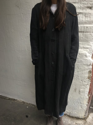 Dark Grey Linen Trench