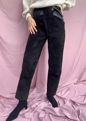 High-Waisted leather pants / M