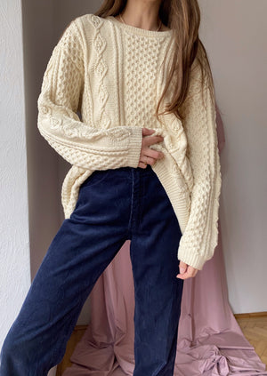 Oversized Chunky Cotton Sweater