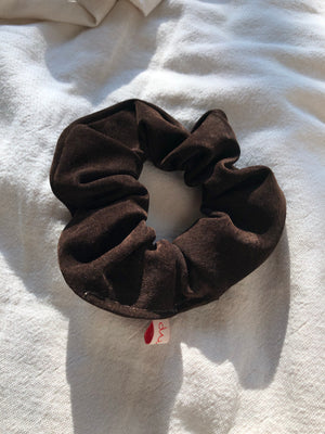Suede Leather Scrunchie