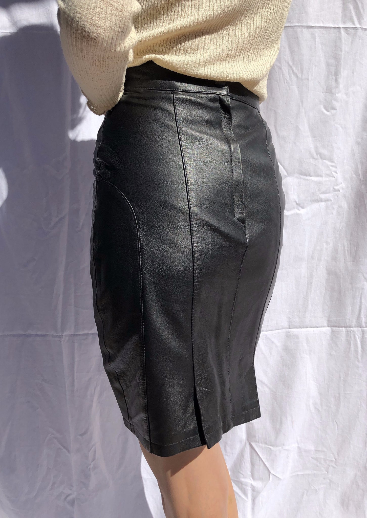 Black Leather Mini ~ XS