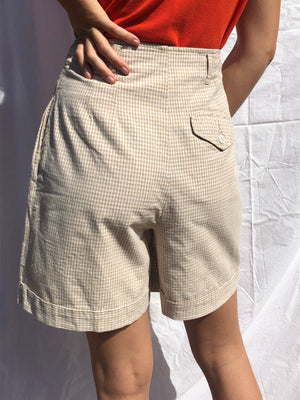 Pleat front summer shorts