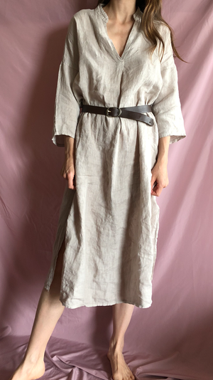 Beige linen tunic / dress