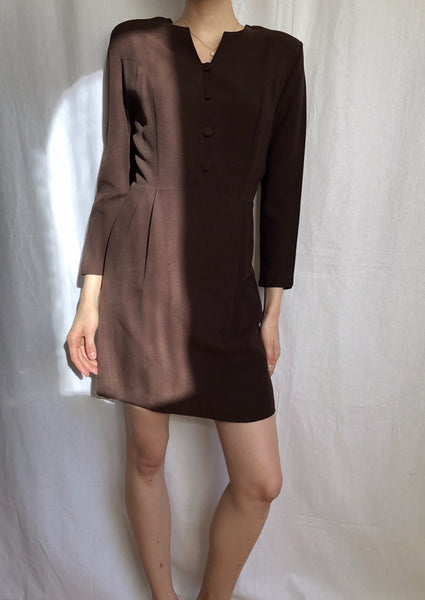 Brown mini dress