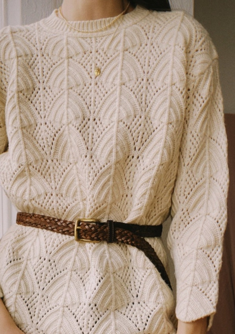 Amazing Vanilla Wool Knit Sweater