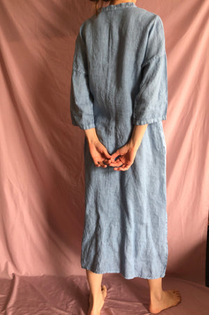 Blue linen tunic / dress