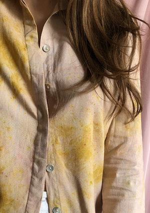 Naturally dyed linen shirt