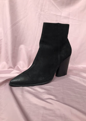 Black Suede Leather Ankle Boots  ~ 41