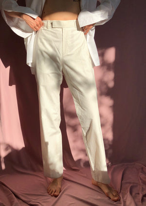Hugo Boss striped high-rise pants ~ M