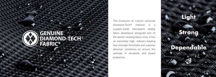 Light, Strong & Dependable, meet our Genuine Diamond-Tech Boardcovers