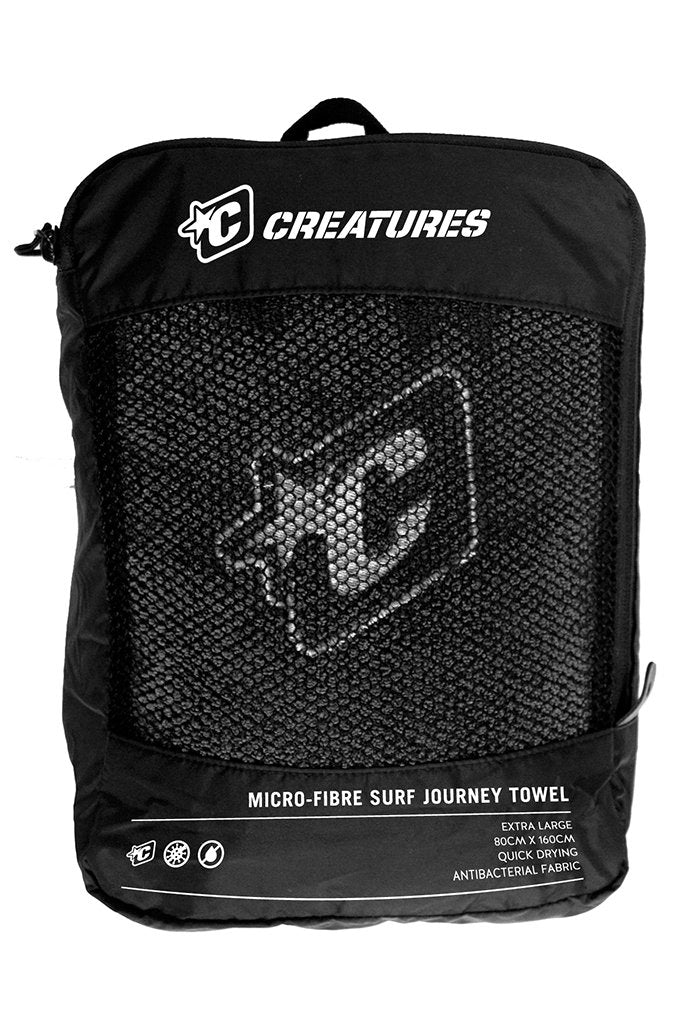 Quick Dry Journey Towel - Charcoal
