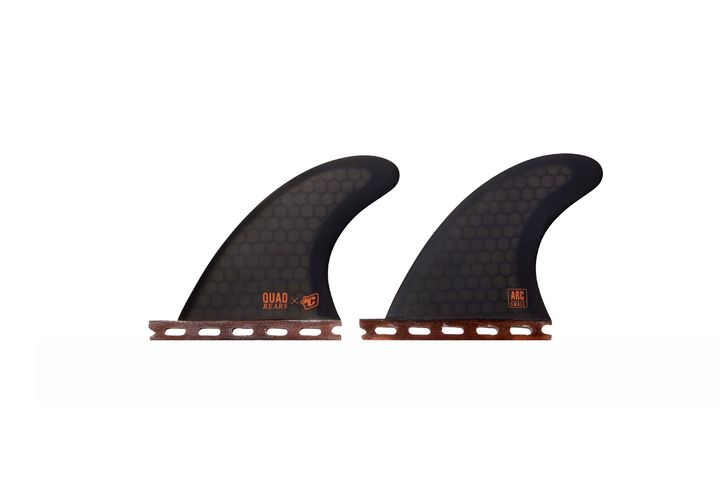 Quad Rear Arc Fins Small - Smoke