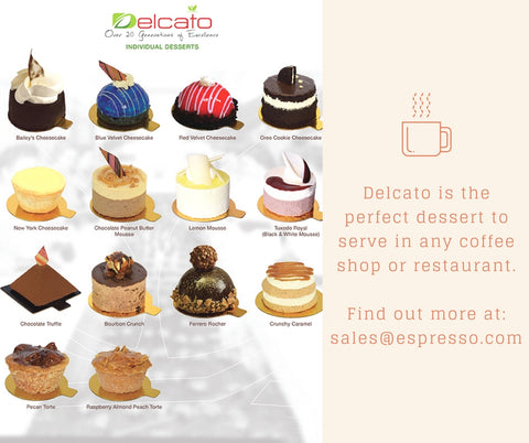 Delcato pastries are the perfect dessert to serve in any coffee shop or restaurant. Available at Alfa Food Service - Espresso.com