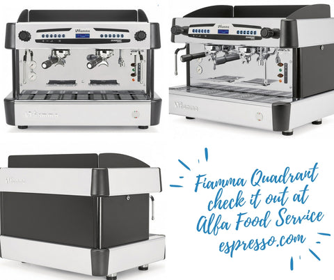 The Fiamma Quadrant espresso machine is our latest arrival...beauty, performance and great price.