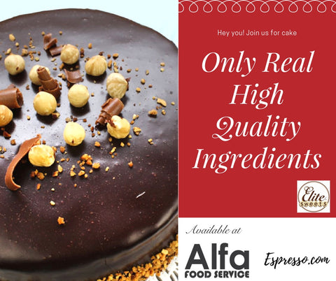 Only Real & High Quality Ingredients...Available at Alfa Food Service & Espresso.com