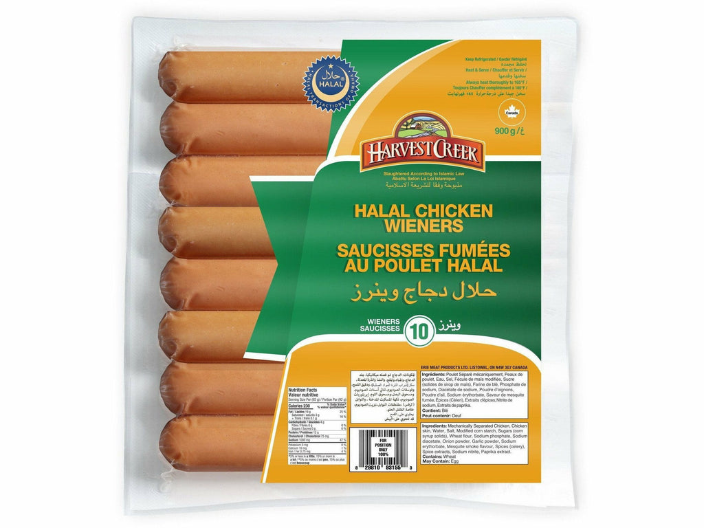 Halal chicken hot dog 6x900g