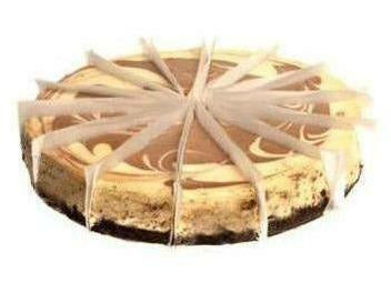 "Elite Sweets 10"" Chocolate Swirl Cheesecake Precut"
