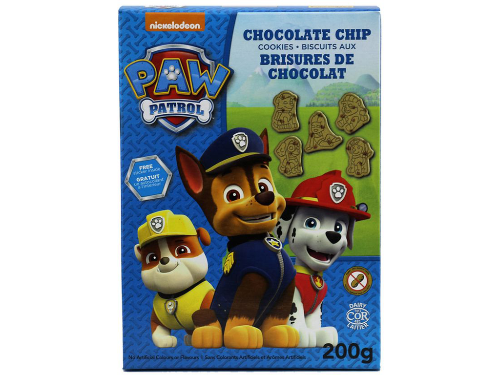Paw Patrol Cookies Chocolate Chip 200g x 8