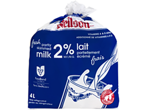 2 %  ( 4 Ltr ) BAGS Milk P/bag