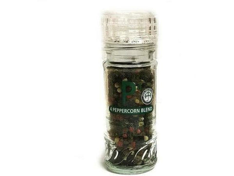 4 Peppercorn Blend In Glass Grinder 20 x 45g