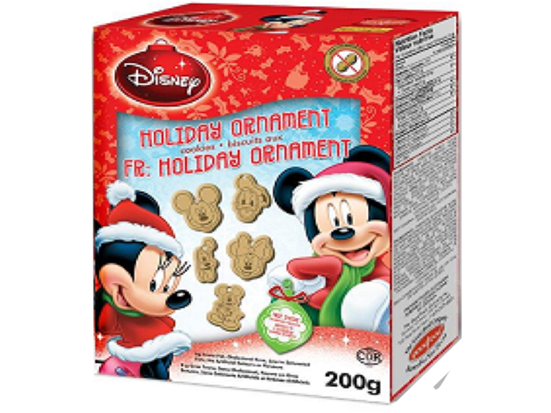 Disney Mickey+friends Holiday oranment cookies 200g x 8