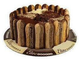 "Elite Sweets 8"" Tiramisu Cake 2 p/cs"