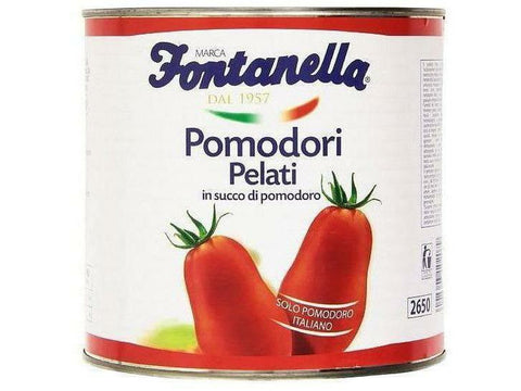 Fontanella Peeled Tomatoes with Basil 6 p/cs