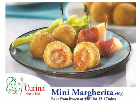 Arancini Mini Margherita ( Mozzarella Cheese Tomato Sauce) 50gr Med. 150 p\case