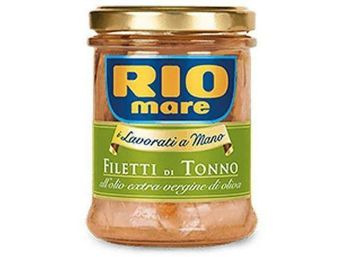 Rio Mare Tuna Fillets in Jar Olive Oil 12x180g.
