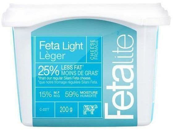 Silani Feta Light Tub 12 x 200g p/cs