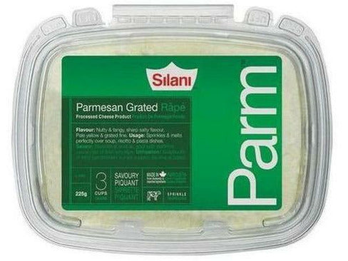 Silani Grated Parmesan Tub 12 x 225 g p/cs