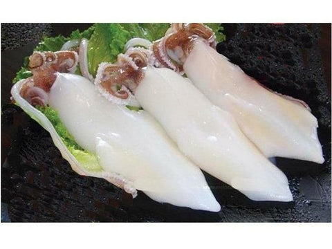 Squid Whole Cleaned, T&T, U10, Thailand, 6x2kg