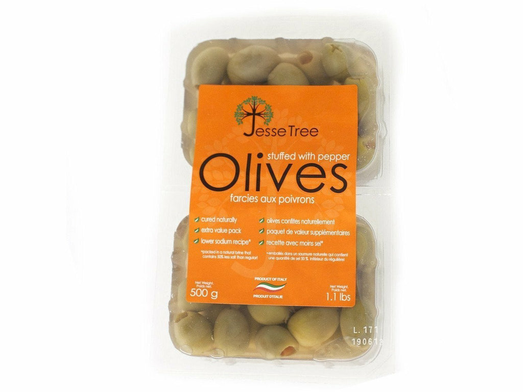 Green Olives Stuffed With Pepper 16 x 620g
