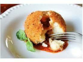 LivBon Sicilian Arabbiata Arancini GF - Spicy Lean Ground Beef, Green Peas & Mozzarella Cheese Unfried 28g 200 x case
