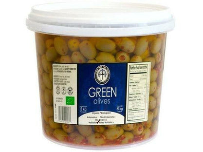 Green Olives Stuffed With Peppers 2 x 5kg