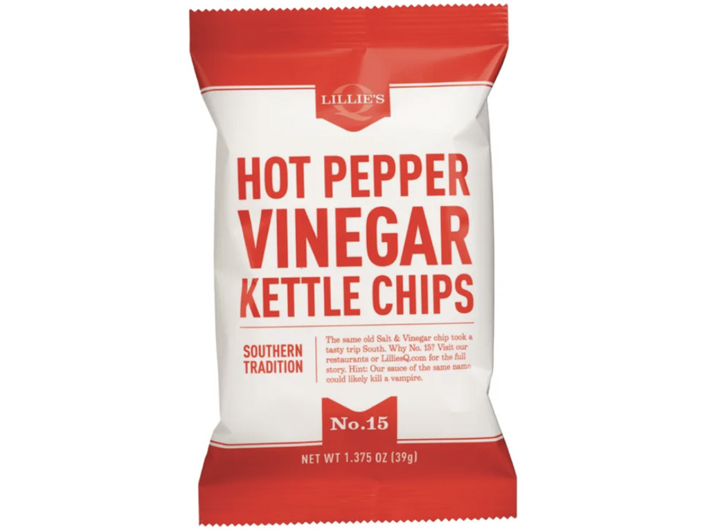 Lillie's Q Hot Pepper Vinegar Chips 12 x 141g