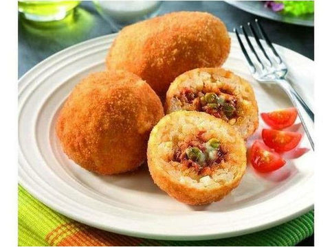 LivBon Sicilian Arancini GF - Lean Ground Beef, Green Peas & Mozzarella Cheese Fried 28g 200 x case
